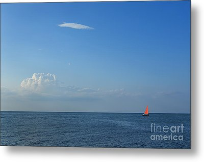 Late Afternoon Sail Metal Print by Diane Diederich