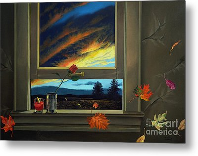 Late Autumn Breeze By Christopher Shellhammer Metal Print by Christopher Shellhammer