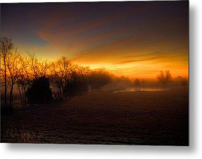 Late Autumn Sunrise Metal Print by Mark Alder