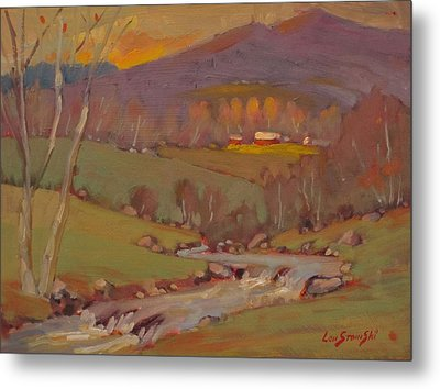 Metal Print featuring the painting Late In The Season by Len Stomski