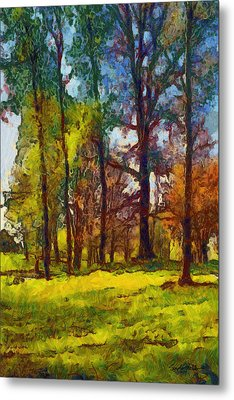 Late Spring Trees Metal Print