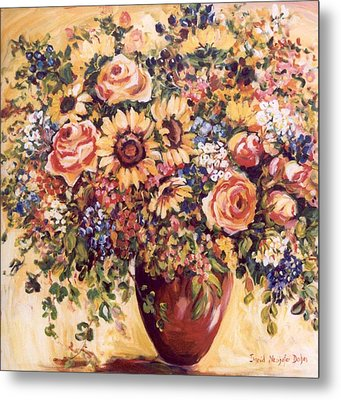 Late Summer Bouquet Metal Print by Alexandra Maria Ethlyn Cheshire