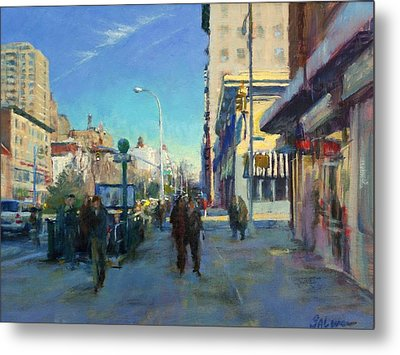 Late Winter Morning On Broadway Metal Print