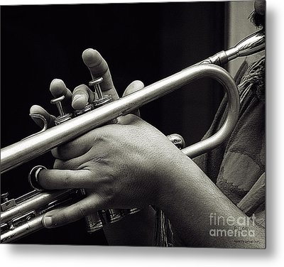 Metal Print featuring the photograph Latin Trumpet by Pedro L Gili