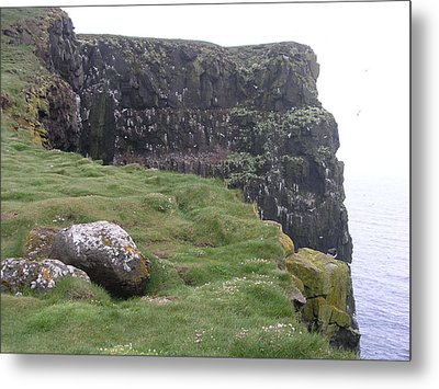 Metal Print featuring the photograph Latrabjarg by Christian Zesewitz
