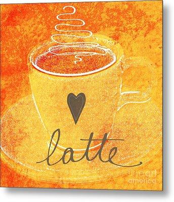 Latte Metal Print by Linda Woods