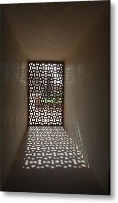 Lattice Of Light Metal Print