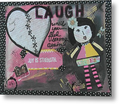 Laugh Metal Print by Debbie Hornsby