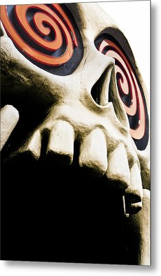 Laughing Skull - Little Five Points Metal Print by Mark E Tisdale