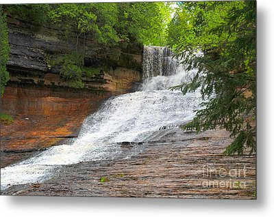 Metal Print featuring the photograph Laughing Whitefish Waterfall by Terri Gostola