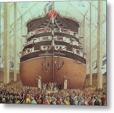 Launch Of Hms Royal Albert Metal Print by English School