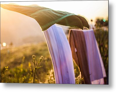 Laundry Metal Print by Aiden Kashi