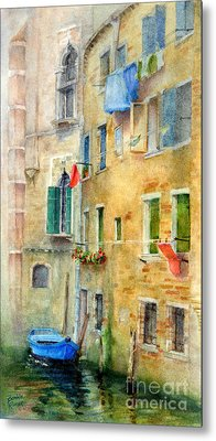 Laundry Day Metal Print by Bonnie Rinier