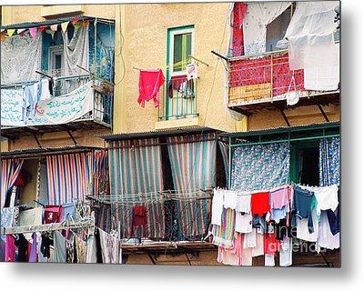 Metal Print featuring the photograph Laundry Day by Cassandra Buckley
