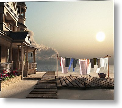 Laundry Day Metal Print by Cynthia Decker