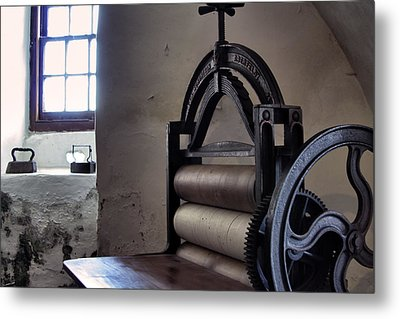 Laundry Press Metal Print by Jason Politte