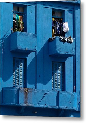 Laundry - Sao Paulo Metal Print by Julie Niemela