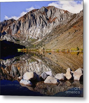 Laural Mountain Convict Lake California Metal Print by Bob and Nadine Johnston