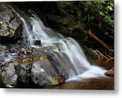 Laurel Falls Great Smoky Mountains Metal Print by Jerome Lynch