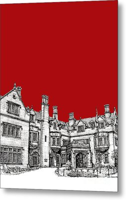 Laurel Hall In Red -portrait- Metal Print by Adendorff Design