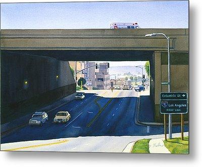 Laurel Street Bridge San Diego Metal Print