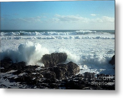 Metal Print featuring the photograph Lava Beach Rocks On 90 Mile Beach by Mark Dodd