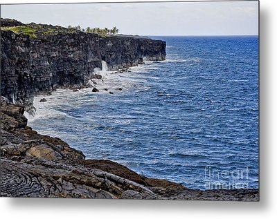 Metal Print featuring the photograph Lava Cliffs by Gina Savage