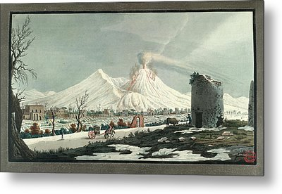 Lava Erupting From Mt. Vesuvius Metal Print by British Library