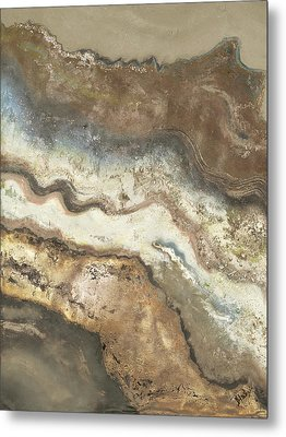 Lava Flow Panel I Metal Print by Patricia Pinto
