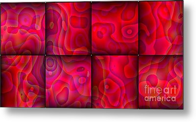 Metal Print featuring the digital art Lava Lamp Abstract 1  By Saribelle Rodriguez by Saribelle Rodriguez