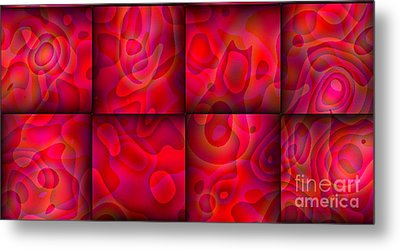 Metal Print featuring the digital art Lava Lamp Abstract 2  By Saribelle Rodriguez by Saribelle Rodriguez