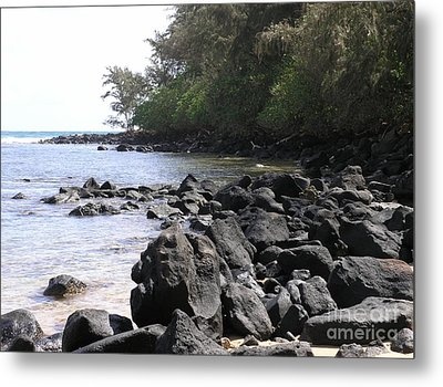 Lava Rocks Metal Print by Mary Deal