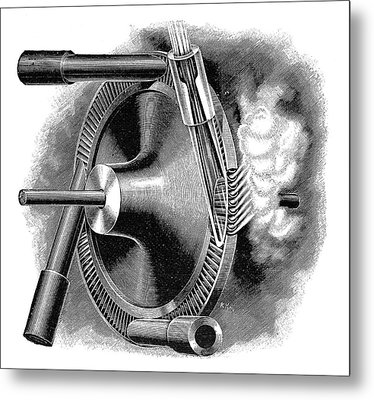 Laval Turbine Metal Print by Science Photo Library