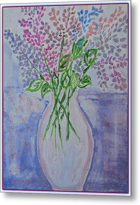 Lavendar  Flowers Metal Print
