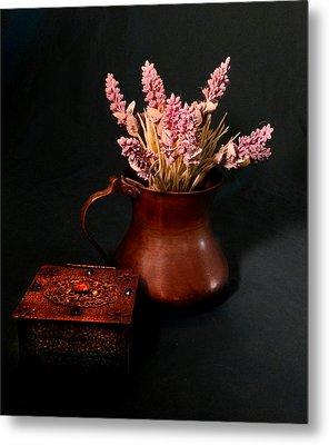 Lavender And Copper Metal Print