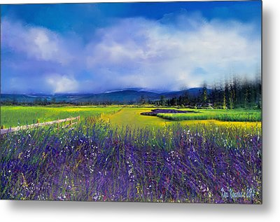 Lavender Blues Metal Print
