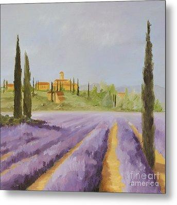 Lavender Fields I Metal Print by Logan Gerlock