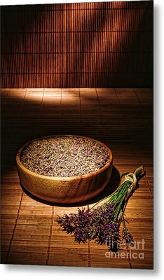 Lavender Flowers And Seeds Metal Print by Olivier Le Queinec