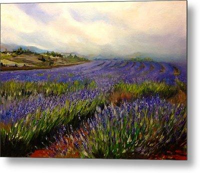 Lavender In Oil Metal Print by Lori Ippolito
