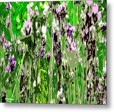Lavender In Summer Metal Print by Patrick J Murphy