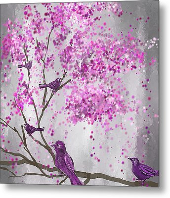 Lavender Leisure- Lavender Wall Art Metal Print by Lourry Legarde