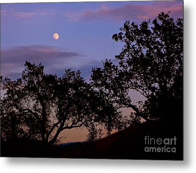 Lavender Moon Twilight Metal Print by Gem S Visionary