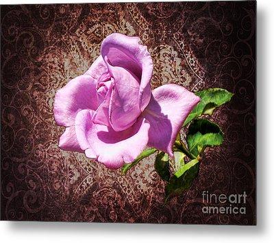Lavender Rose Metal Print by Mariola Bitner