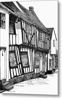 Lavenham Timber Metal Print by Shirley Miller