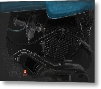 Laverda Engine Detail Metal Print