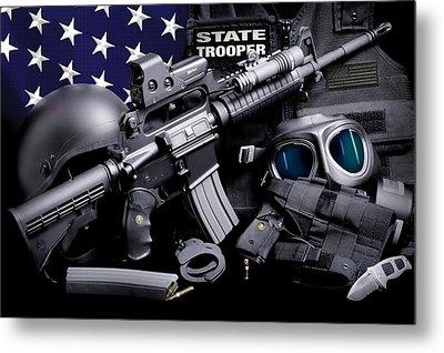 Law Enforcement Tactical Trooper Metal Print by Gary Yost