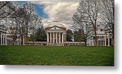 Lawn And Rotunda At University Of Virginia Metal Print
