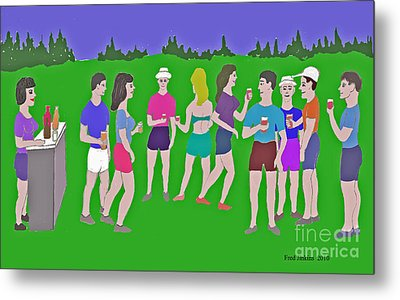 Lawn Party  Metal Print by Fred Jinkins