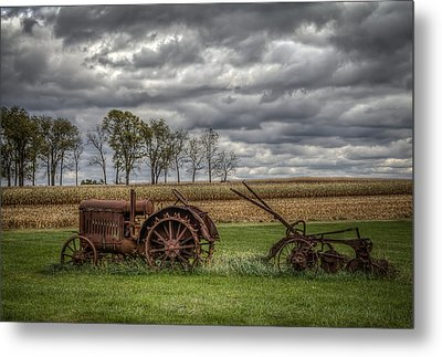 Lawn Tractor Metal Print