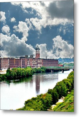 Lawrence Ma Historic Clock Tower Metal Print by Barbara S Nickerson